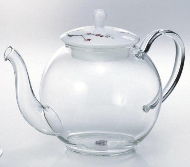 Glazen theepot kersenbloesem evermore - Glazen vergroting ...