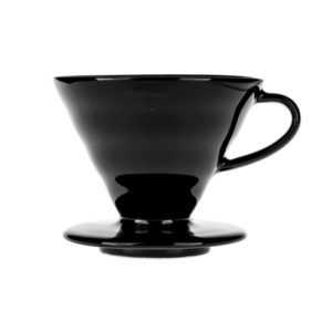 Hario V60-02 Ceramic Coffee Dripper Black Tetsu Kasuya | Evermore