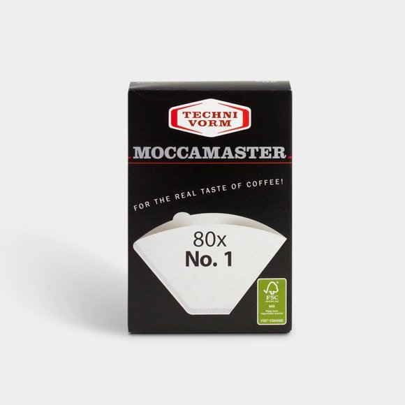 Moccamaster Koffiefilters #1 80 stuks | Evermore