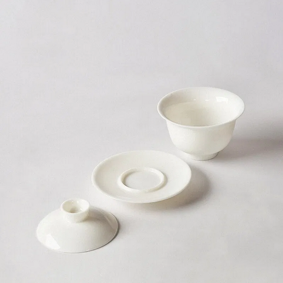 Porcelain Gaiwan White 160 ml with lid