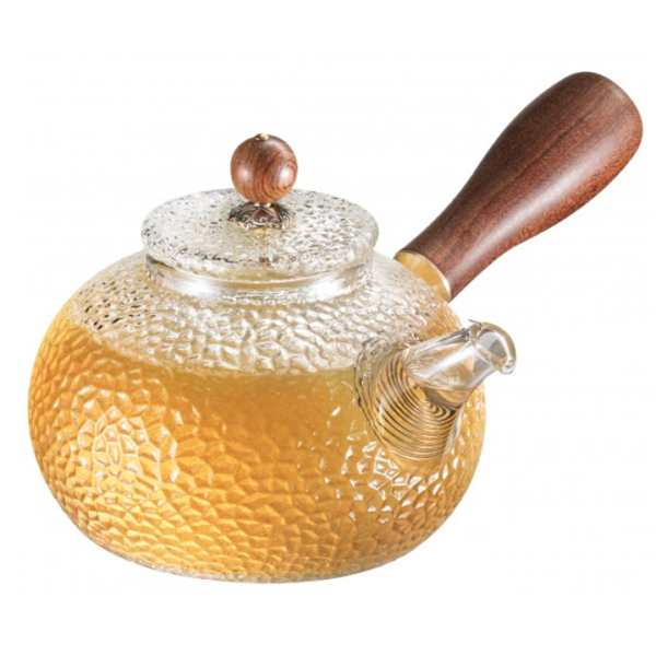 Kyusu Teapot Glass with Wooden Handle